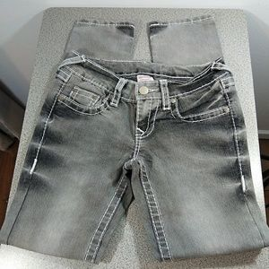 True Religion Gray Becky Skinny Jeans 5 Pocket 29